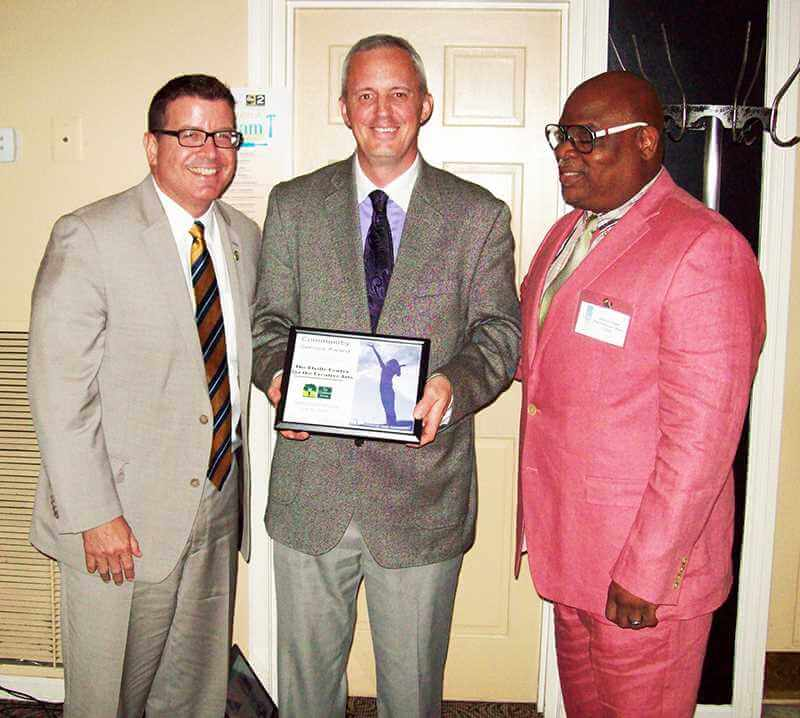 Pictured left to right (Stephen R. Elville, Founder; Jeffrey D. Stauffer, Executive Director, Andre G. Cooper, Chief Executive Officer of The Children's Home)
